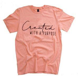 Peach Bella created w a purpose short sleeve top